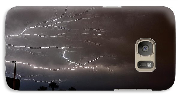 Galaxy Case featuring the photograph Lightning 5 by Richard Zentner