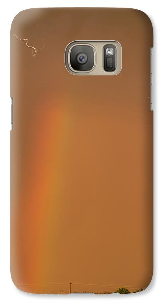 Galaxy Case featuring the photograph Lightning And Rainbow by Rob Graham