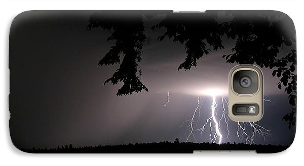 Galaxy Case featuring the photograph Lightning At Night by Barbara West