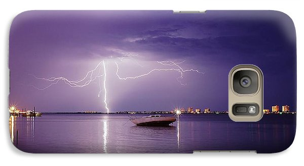 Galaxy Case featuring the photograph Lightning On The Indian River by Lynda Dawson-Youngclaus