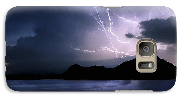 Lightning Over Quartz Mountains - Oklahoma Galaxy S7 Case