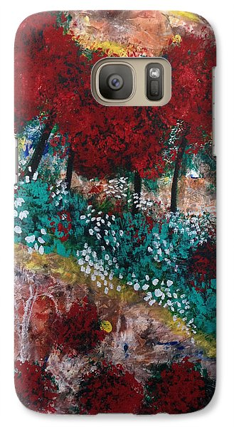Galaxy Case featuring the painting Lightning. by Sima Amid Wewetzer