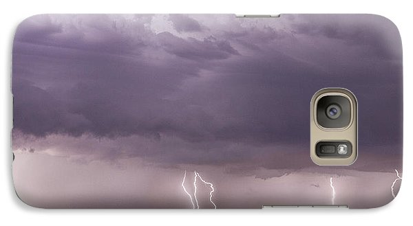 Galaxy Case featuring the photograph Lightning Storm by Rob Graham