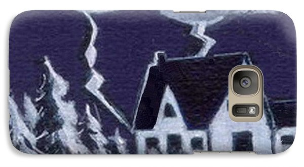 Galaxy Case featuring the painting Lightning Strike by Joyce Gebauer