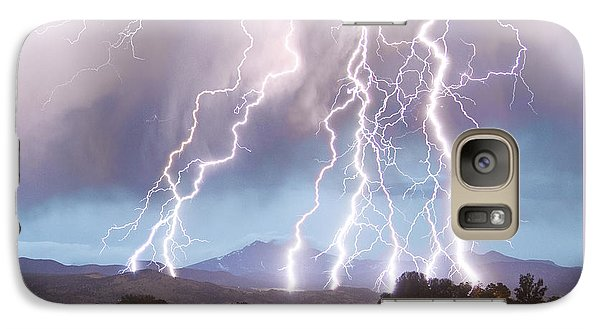 Lightning Striking Longs Peak Foothills 4c Galaxy S7 Case