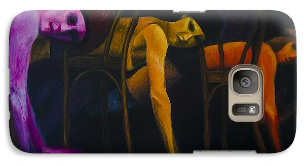 Galaxy Case featuring the painting Lights Center Stage by Ron Richard Baviello
