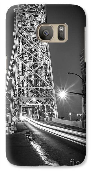 Galaxy Case featuring the photograph Lightspeed Through The Lift Bridge by Mark David Zahn