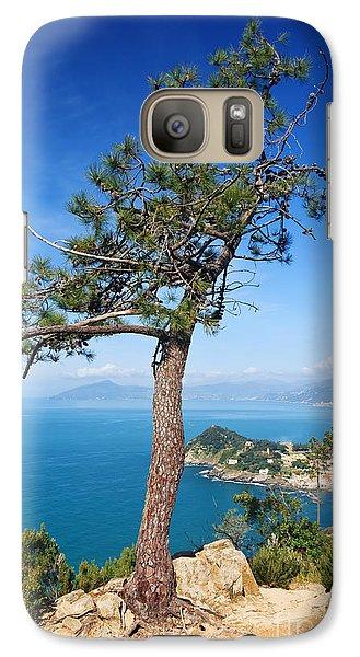 Galaxy Case featuring the photograph Liguria - Tigullio Gulf by Antonio Scarpi