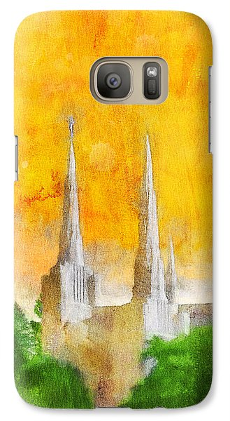 Galaxy Case featuring the painting Like A Fire Is Burning by Greg Collins