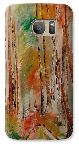 Galaxy Case featuring the painting Like The Trees Always Looking Up by PainterArtist FIN