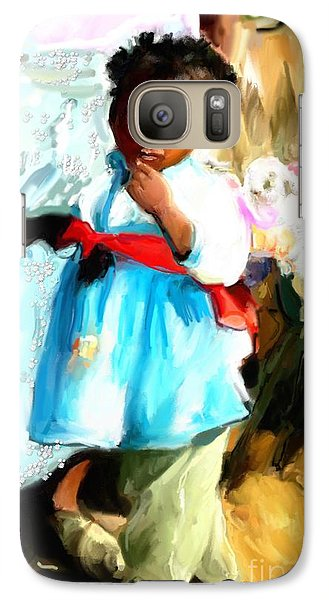 Galaxy Case featuring the painting Lil Girl  by Vannetta Ferguson