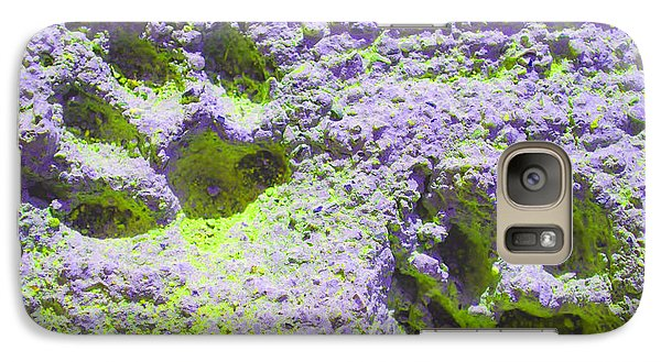 Lilac And Green Pawprints Galaxy S7 Case