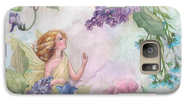 Galaxy Case featuring the painting Lilac Enchanting Flower Fairy by Judith Cheng
