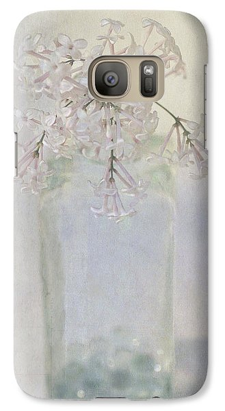 Galaxy Case featuring the photograph Lilac Flower by Annie Snel