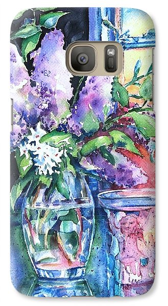 Galaxy Case featuring the painting Lilac Light by Trudi Doyle