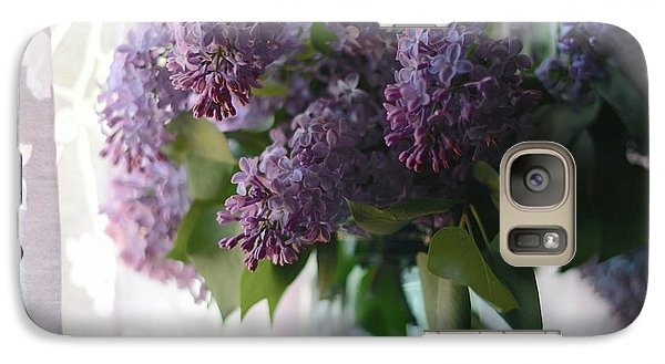 Galaxy Case featuring the photograph Lilac Morning by Linda Mishler