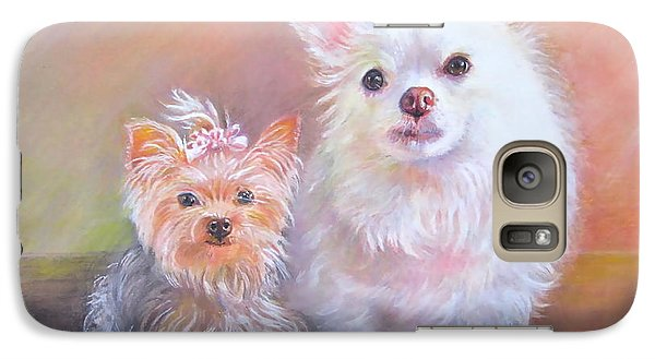 Galaxy Case featuring the painting Lili And Tenti by Patricia Schneider Mitchell