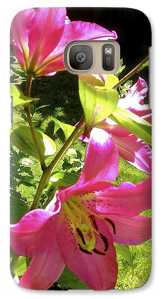Galaxy Case featuring the photograph Lilies In The Garden by Sher Nasser