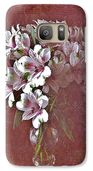 Galaxy Case featuring the photograph Lilies In Vase by Diane Alexander