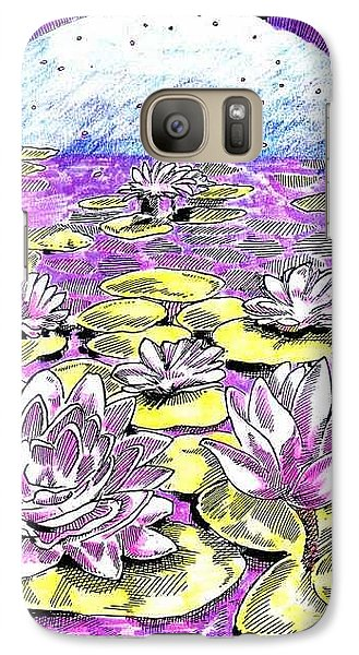 Galaxy Case featuring the drawing Lilies Of The Lake by Seth Weaver