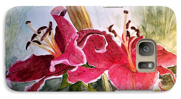 Galaxy Case featuring the painting Lilies Turned Tiger by Carol Grimes