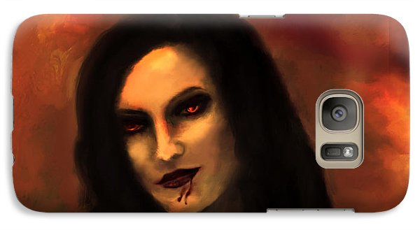 Galaxy Case featuring the painting Lilith by Persephone Artworks