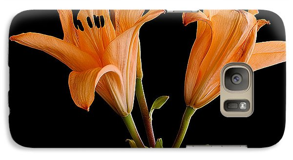 Galaxy Case featuring the photograph Lilium Flowers by Marwan Khoury