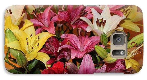 Galaxy Case featuring the photograph Lilies by John Mathews