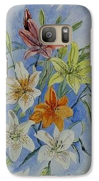 Galaxy Case featuring the painting Lillies In The Primary by Kevin F Heuman
