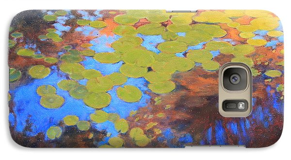 Galaxy Case featuring the painting Lilly by Andrew Danielsen