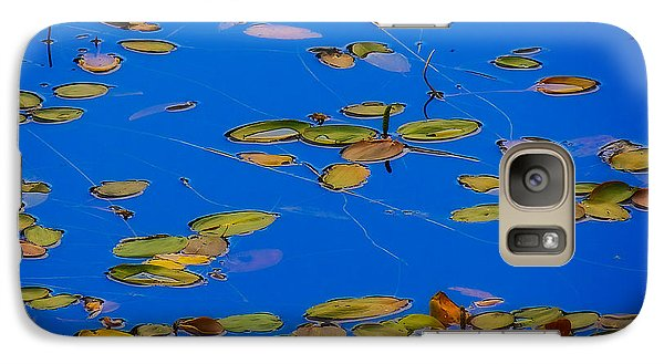 Galaxy Case featuring the tapestry - textile Lilly Pads by Dennis Bucklin