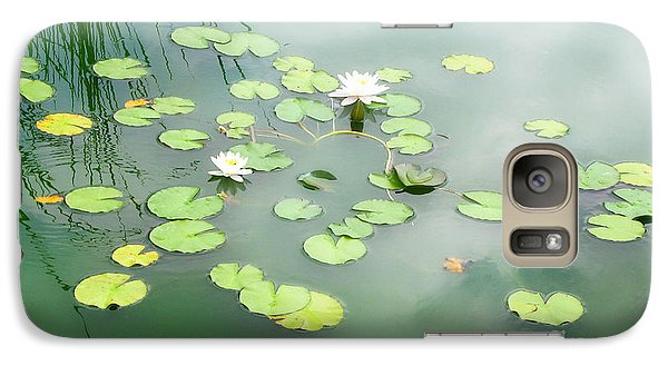 Galaxy Case featuring the photograph Lilly Pads by Erika Weber