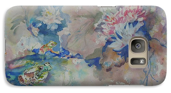 Galaxy Case featuring the painting Lilly Pond by Mary Haley-Rocks