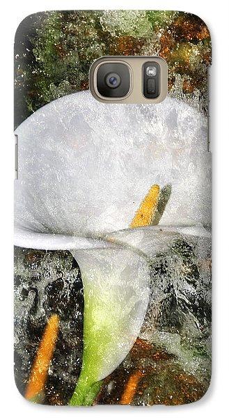 Galaxy Case featuring the photograph Lilly Splash by Davina Washington