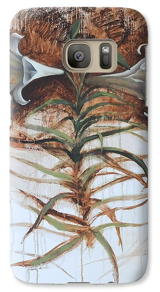 Galaxy Case featuring the painting Lily by Alla Parsons