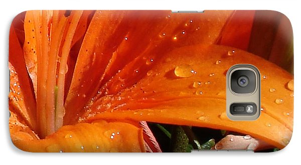 Galaxy Case featuring the photograph Lily Drops by Kerri Mortenson