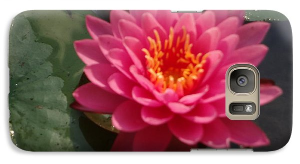 Galaxy Case featuring the photograph Lily Flower In Bloom by Michael Porchik