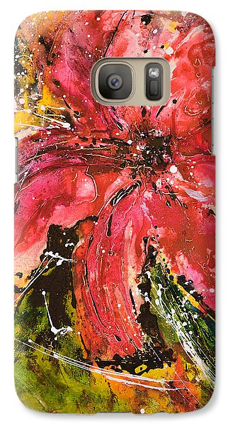 Galaxy Case featuring the painting Lily - Flower Painting by Ismeta Gruenwald