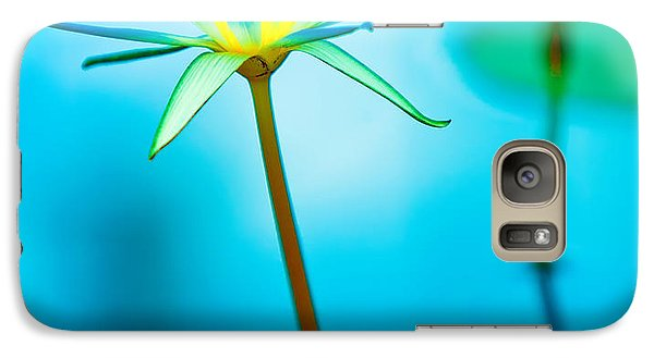 Lily Galaxy S7 Case - Lily In Blue by Bill  Robinson