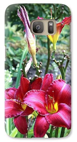 Galaxy Case featuring the photograph Lily In The Garden by Barbara Giordano