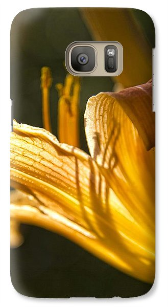 Galaxy Case featuring the photograph Lily In The Yard by Daniel Sheldon