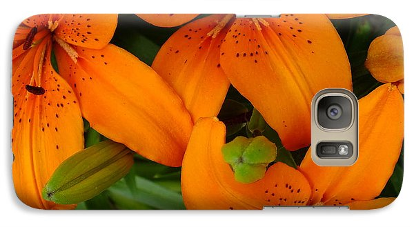 Galaxy Case featuring the photograph Lily Orange by Gene Cyr