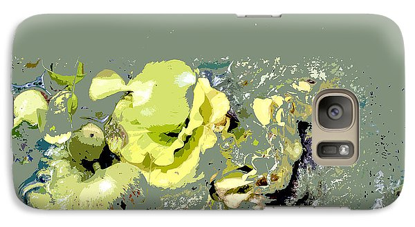 Galaxy Case featuring the digital art Lily Pads - Deconstructed by Lauren Radke