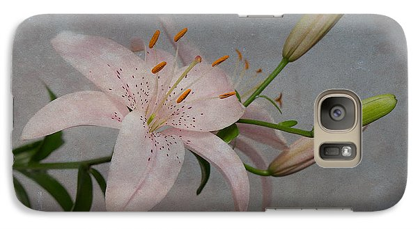 Galaxy Case featuring the photograph Pink Lily With Texture by Patti Deters