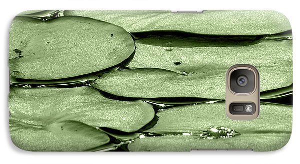 Galaxy Case featuring the photograph Lilypads by Roselynne Broussard