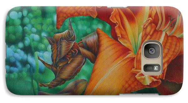 Galaxy Case featuring the painting Lily's Evening by Pamela Clements