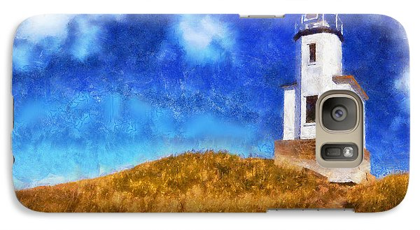 Galaxy Case featuring the digital art Lime Kiln Lighthouse by Kaylee Mason