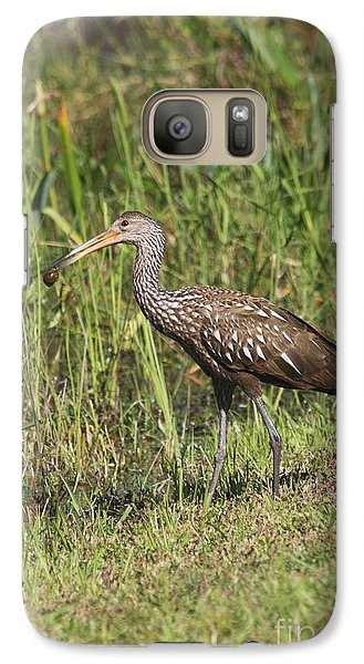 Galaxy Case featuring the photograph Limpkin With Apple Snail by Christiane Schulze Art And Photography