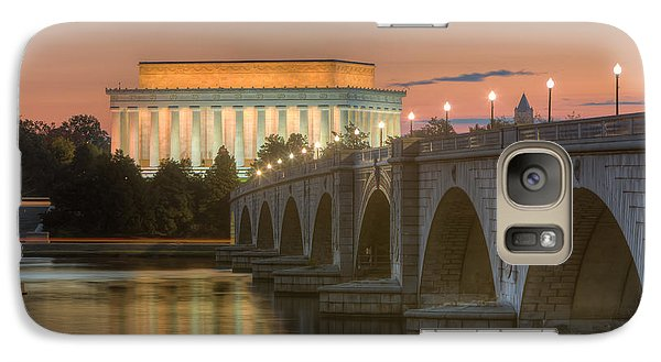 Lincoln Memorial And Arlington Memorial Bridge At Dawn I Galaxy S7 Case