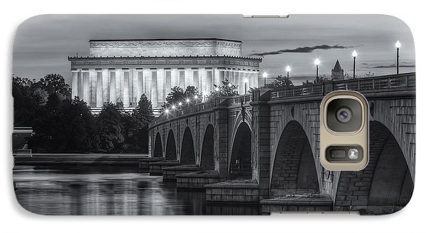 Lincoln Memorial And Arlington Memorial Bridge At Dawn II Galaxy S7 Case